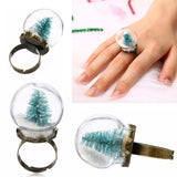 Christmas Tree Globe Rings