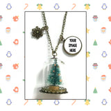 Christmas Tree Jar Necklaces