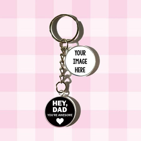 Fathers Day Photo Keychains