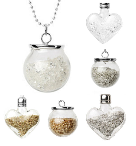 Glass Bottle Beads Necklaces