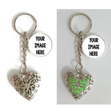 Glow In The Dark Heart Keychains