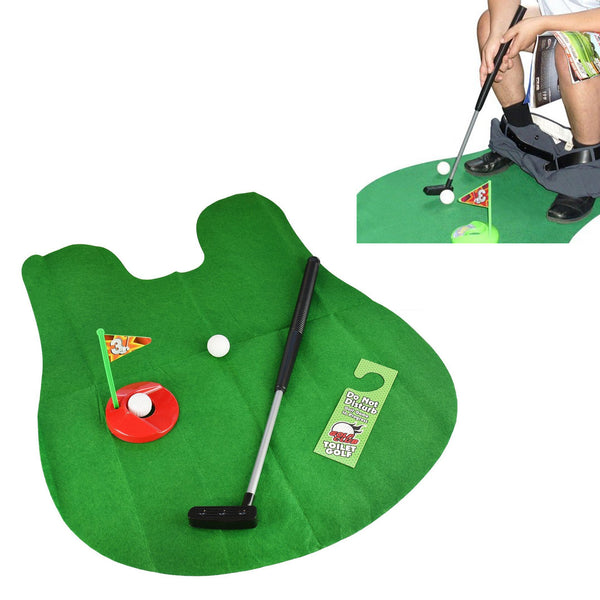 Mini Golf Toilet Set