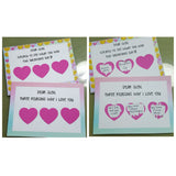 Heart Scratch Stickers with Card