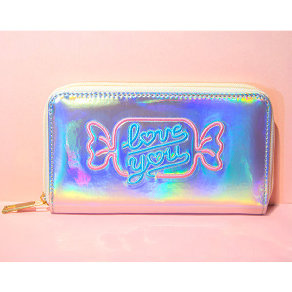 Holographic Candy Love Wallets