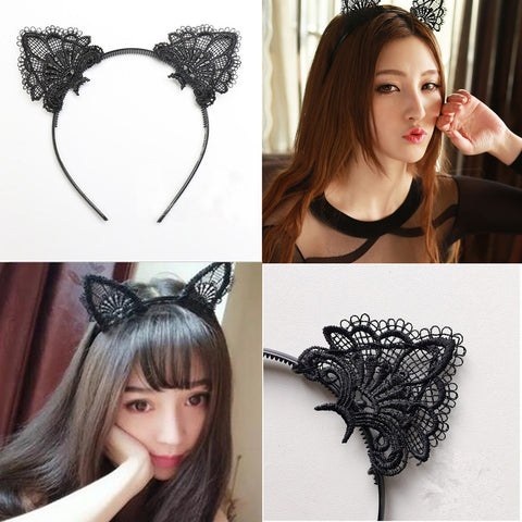 Kitty Cat Ears Hairband Lacey