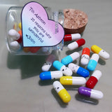 Bottle of Pills with Message