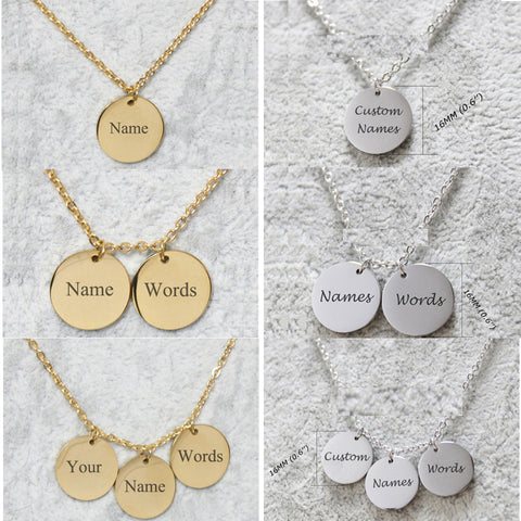 Name Coin Necklaces
