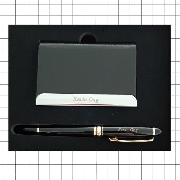 Name Card Holder and Pen Gift Set