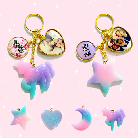 Ombre Charms Keychains