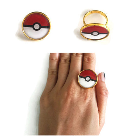 Pokeball Rings