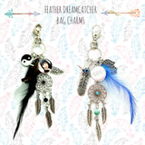 Feather Dreamcatcher Bag Charms