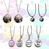 Circle Charm Necklaces