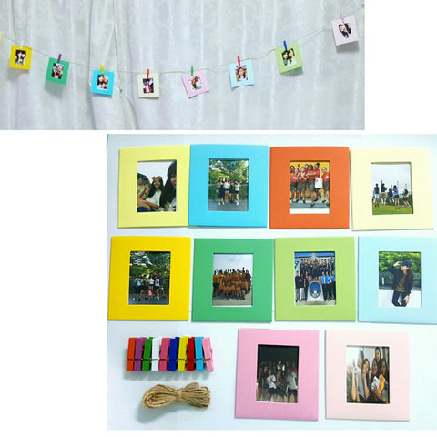 Photo Frames with String and Pegs