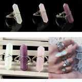 Quartz Crystal Rings
