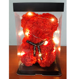 Rose Bears (25cm) with Lights