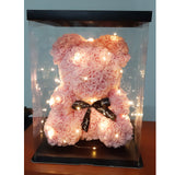 Rose Bear (40cm) in Box with Lights