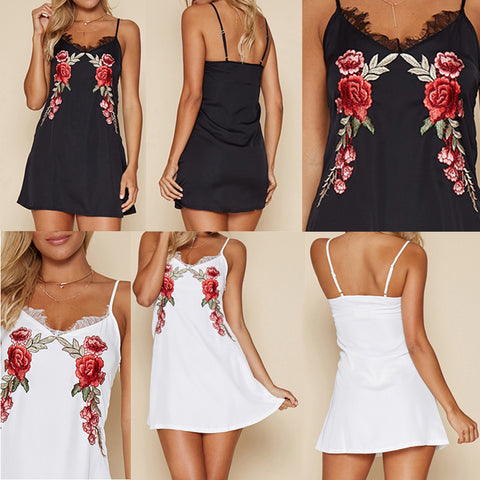 Rose Embroidered Dresses