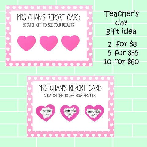 Teachers Day Scratch Cards