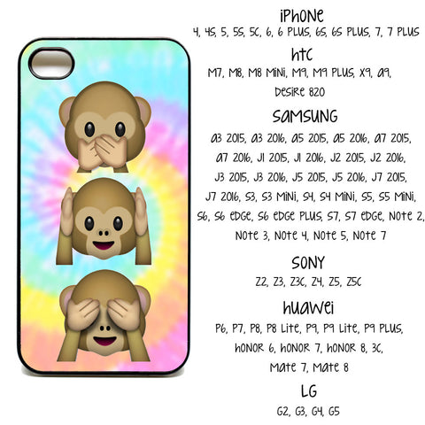Tie Dye Monkey Emoji Phone Covers