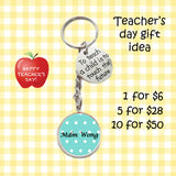 Teacher Day Keychains - To Teach a Child is to Touch the Future