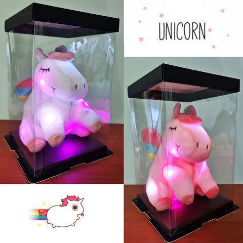 Unicorn in Box with Lights