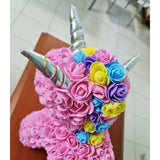Unicorn Rose Bear (40cm) in Box with Lights