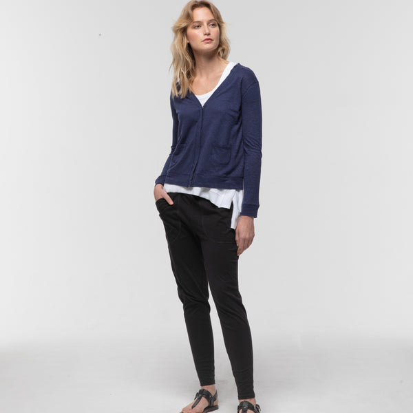Crop Cardigan and Gathered Lounge Pant