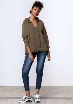 Everyday Raglan Hoodie in Khaki