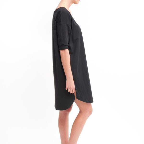 V Back to Front Dress in Black - Miles From