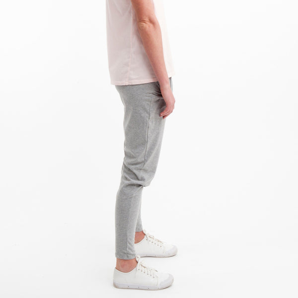 Cotton Lounge Pant in Grey Marle - Miles From - 3