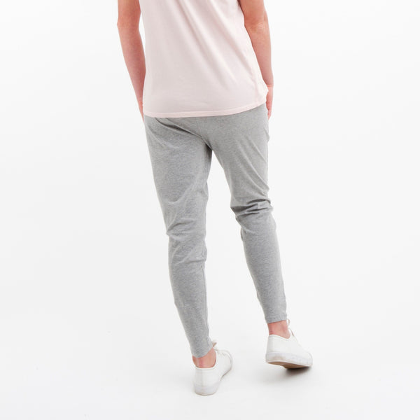 Cotton Lounge Pant in Grey Marle - Miles From - 2
