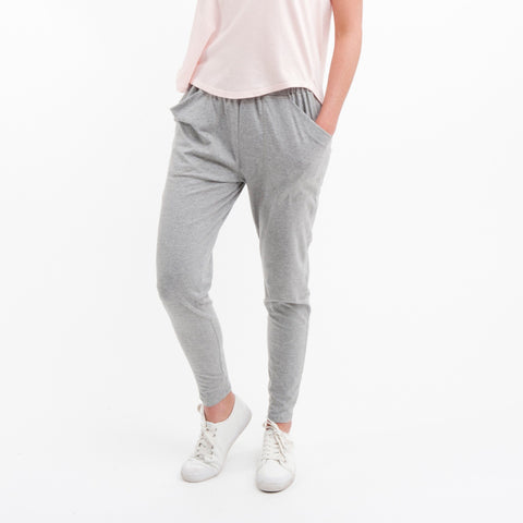 Cotton Lounge Pant in Grey Marle - Miles From