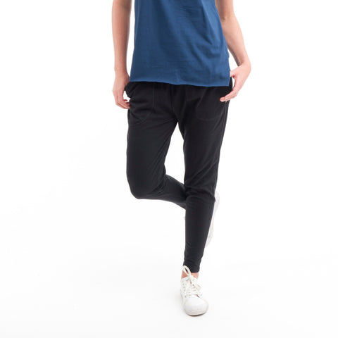 Cotton Lounge Pant in Black - Miles From - 1