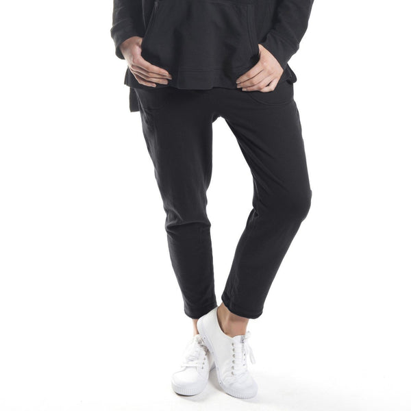 fleecy cigarette pant in black - Miles From