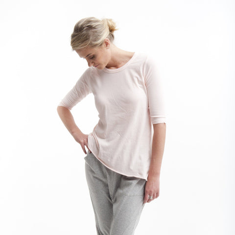 Tuck In Tee in Powder Pink - Miles From - 1
