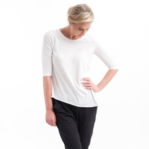 Tuck In Tee in White - Miles From - 1