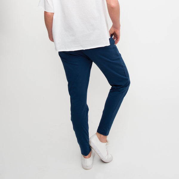 Cotton Lounge Pant in Denim - Miles From - 4