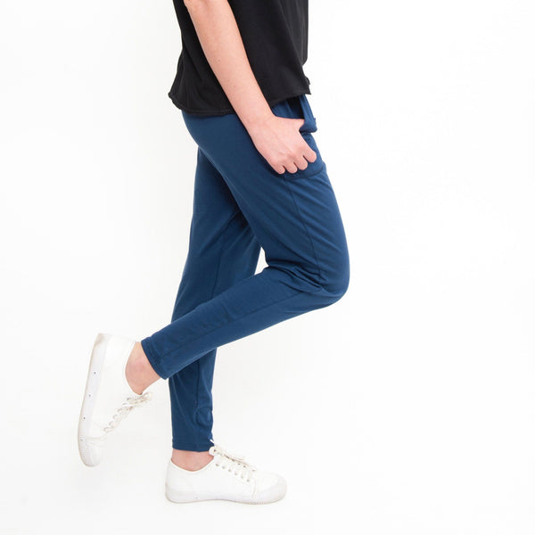 Cotton Lounge Pant in Denim - Miles From - 3
