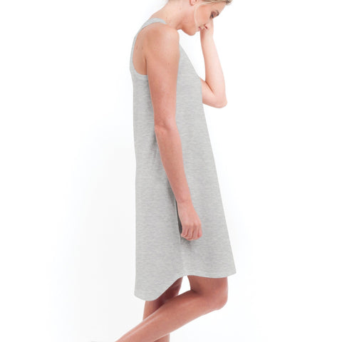 Singlet Dress in Grey Marle - Miles From - 1