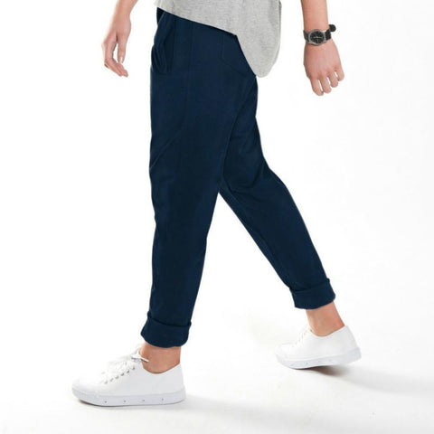 relaxed roll up pant in ink - Miles From