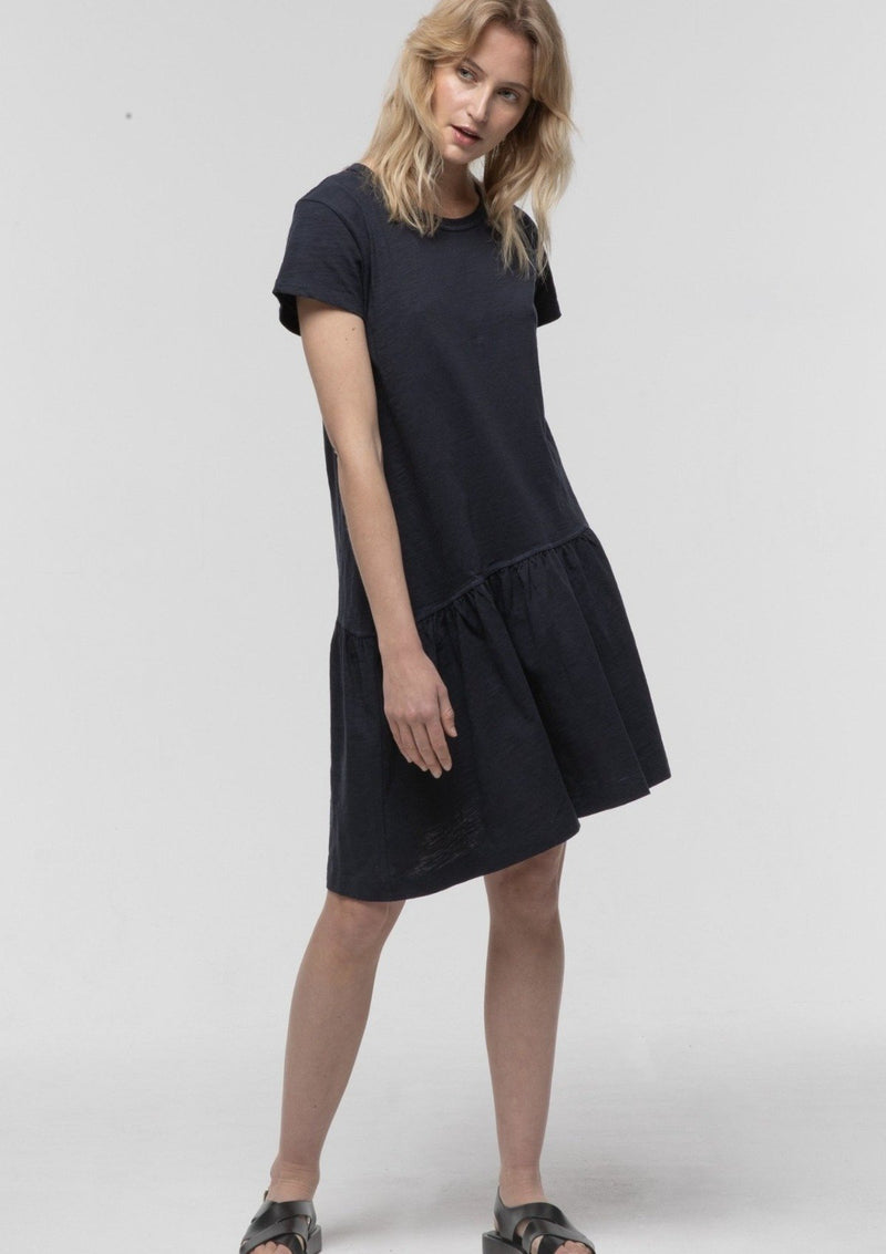 Asymmetrical Drop Waist Dress in Black - Miles From
