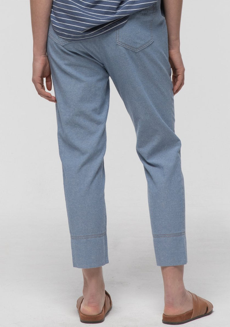 Chambray Relaxed Roll Up Pant - Miles From
