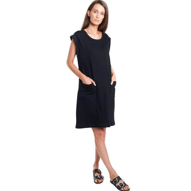 Dress - Roll Sleeve Sweat Dress