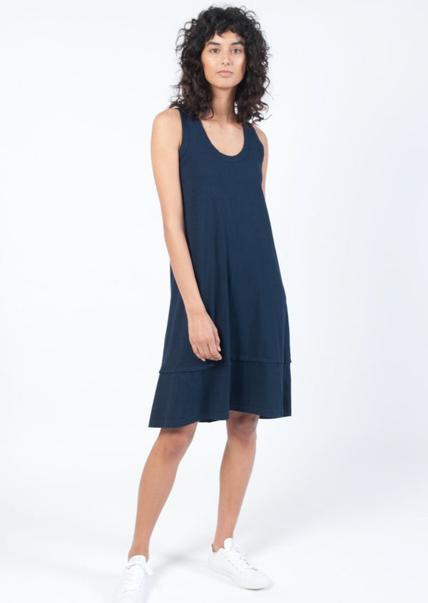 Fluted Hem Tank Dress - Miles From