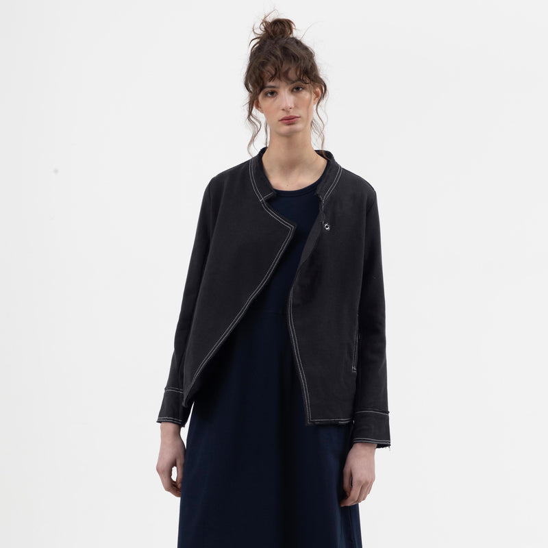 Raw Relaxed Military Jacket in Black - miles-from - Jacket