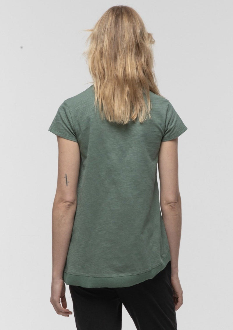 Side Split Tee in Fern - miles-from - T-Shirt
