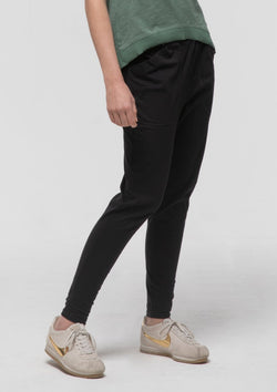 Gathered Lounge Pant in Black - Miles From