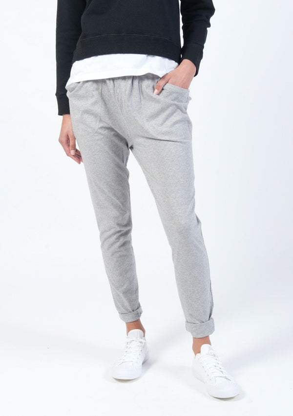 Gathered Lounge Pant in Grey Marle - Miles From