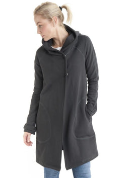 Hooded Duffle Jacket in Charcoal - Miles From