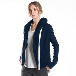 Jacket - Short Hooded Drape Jacket